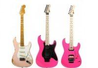 Roze gitaar