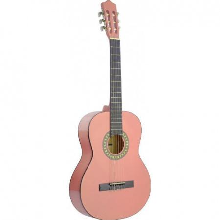 Stagg C542 PK klassieke gitaar roze