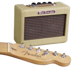 Draagbare mini gitaarversterker op batterijen Fender Mini '57 Twin Amp Portable gitaarversterker