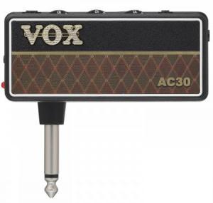 Draagbare mini gitaarversterker op batterijen Vox amPlug 2 AC30 hoofdtelefoon oefenversterker