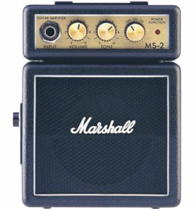 Marshall mini versterker Draagbare mini gitaarversterker op batterijen Marshall MS-2 Portable gitaarversterker