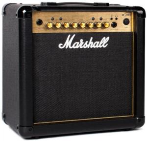 Beste gitaarversterker voor thuis Marshall MG15FX Goede gitaarversterker voor thuis gitaar oefenversterker gitaar